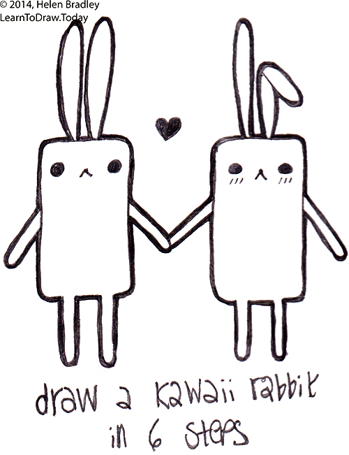Draw A Kawaii Style Rabbit In 6 Simple Steps Learn To Draw