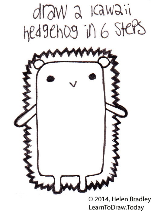 How To Draw A Super Cute Kawaii Style Hedgehog Quickly And Easily