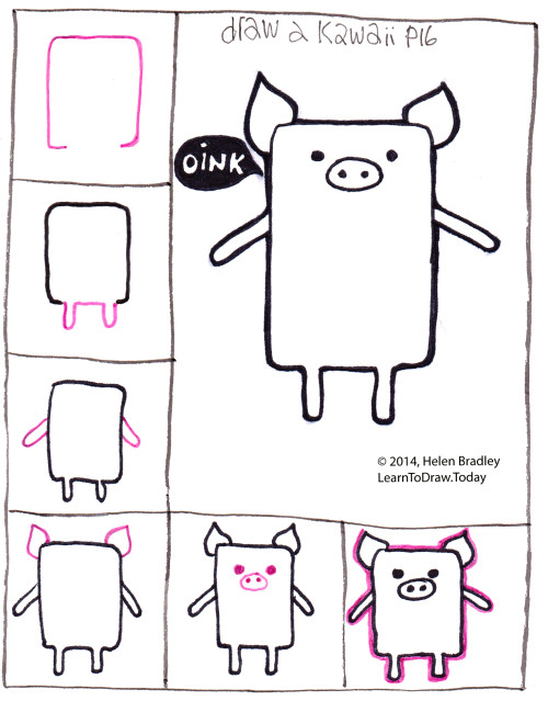 Tags cute pig dessin kawaii drawing how to draw a bear kawaii drawing kawaii pig kawaii piglet kawaii style learn to draw pig piglet step by