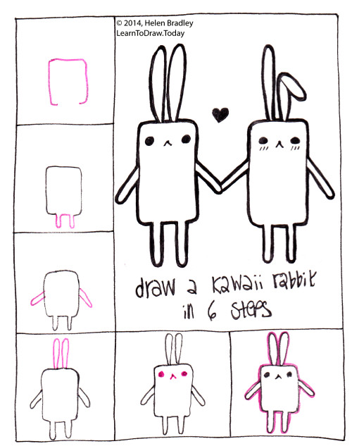 Tags dessin kawaii dibujo kawaii drawing how to draw a rabbit kawaii learn to draw rabbit step by step ウサギ かわいい カワ