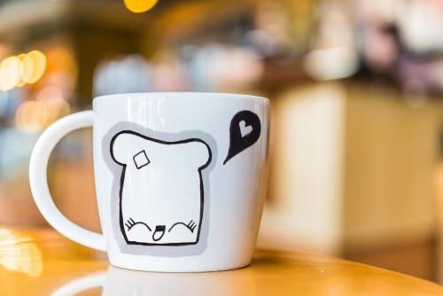 Kawaii Toast on coffee mug