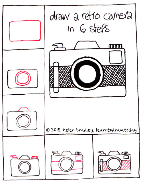 Gallery For gt How To Draw A Vintage Camera Step By