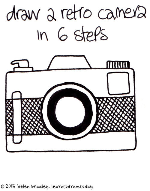 Learn to Draw a Retro Style Camera in 6 Steps : Learn To Draw