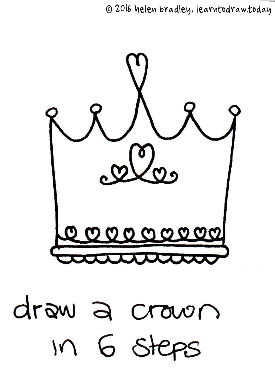 tags apprendre dessiner aprender a dibujar crown cute cute crown cute princess crown fairy tale learn to draw a crown learn to draw a crown in 6