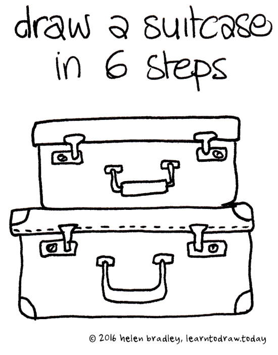 Learn to Draw a Suitcases in 6 Steps  Learn To Draw
