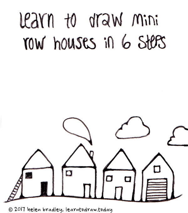 Learn To Draw A Row Of Houses In Just 6 Simple Steps.