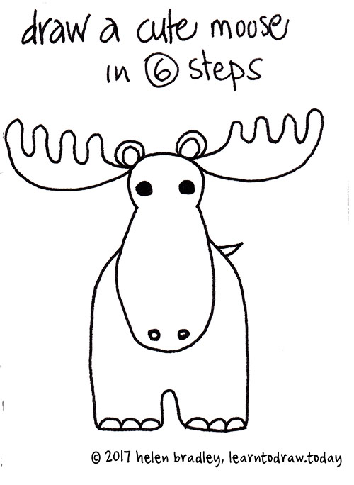 Draw learn to draw moose opener thecheapjerseys Gallery