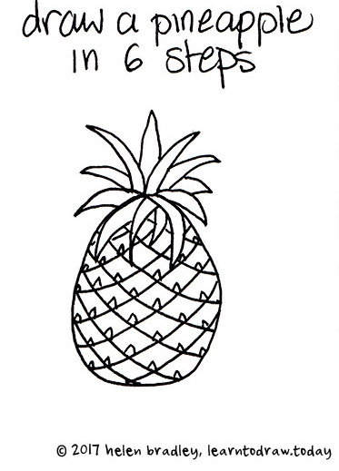 Learn To Draw A Pineapple In 6 Steps Learn To Draw
