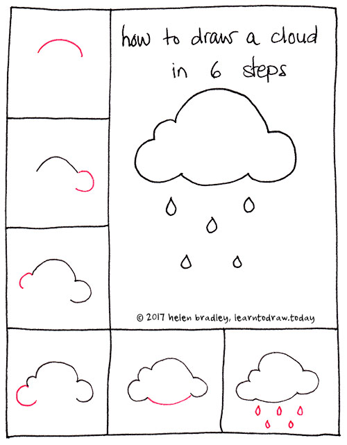 how-to-draw-a-cloud-six-step