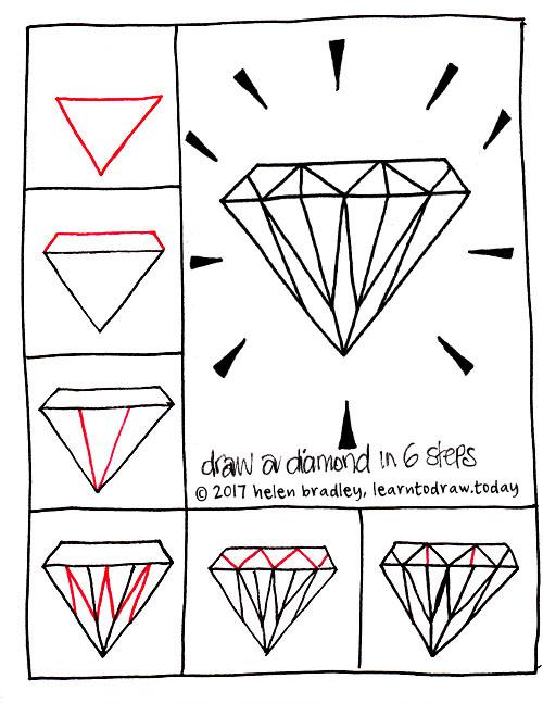 learn to draw a shiny gem