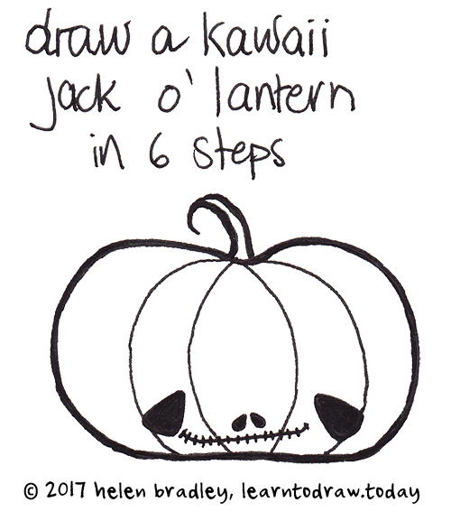 How to Draw a Kawaii Halloween Pumpkin