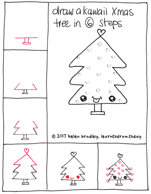 Kawaii Xmas tree in six steps