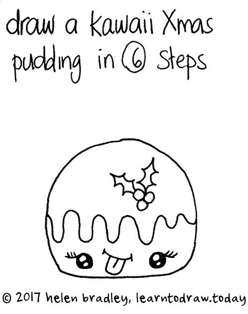 how to draw kawaii dessert