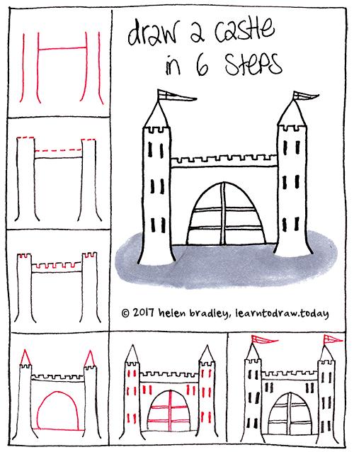 draw a castle in a few steps