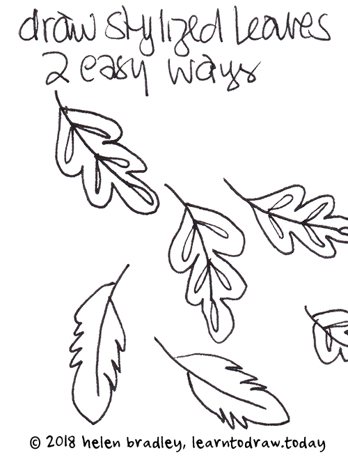 two ways to draw leaves
