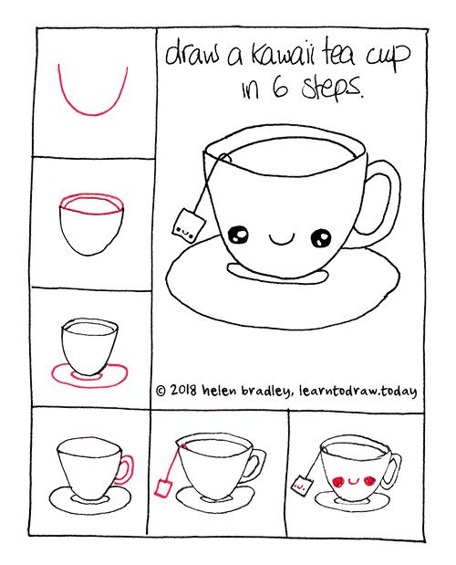 Cute Tea Cup in 6 Steps