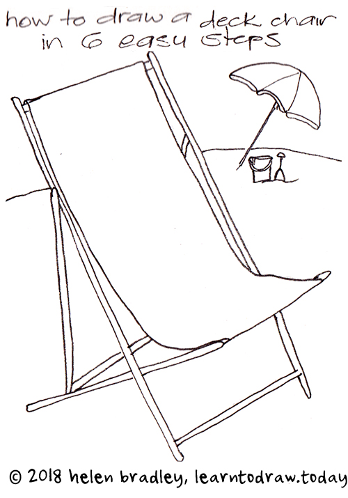 Easy Beach Chair Learn To Draw