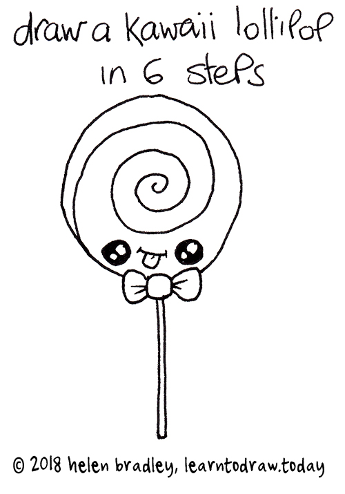 Image of: Kawaii How Cute Lollipop Drawing Simple Steps Learn To Draw Today Kawaii Drawing Learn To Draw