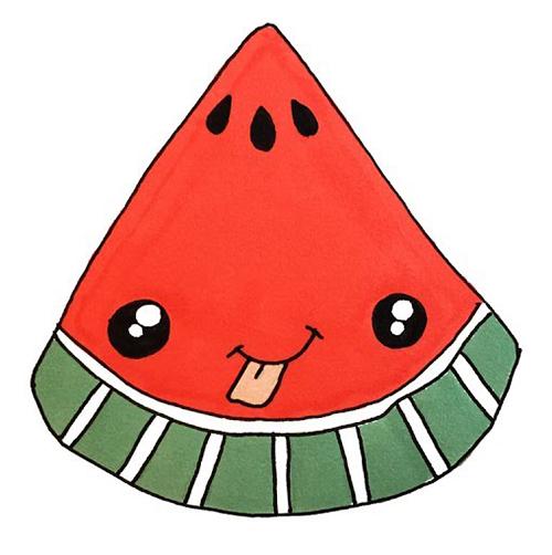 Kawaii watermelon slice